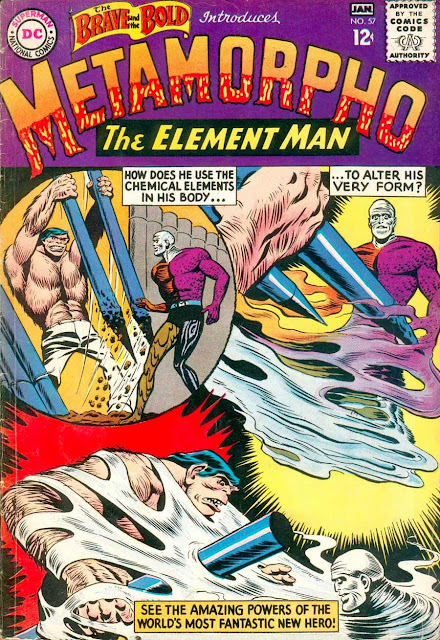 Brave and the Bold v1 #57, 1965 dc silver age comic book cover - 1st Metamorpho