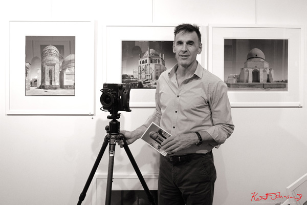 Portrait of Rod Sainty, opening night at M2 gallery. Photographed for Street Fashion Sydney by Kent Johnson.