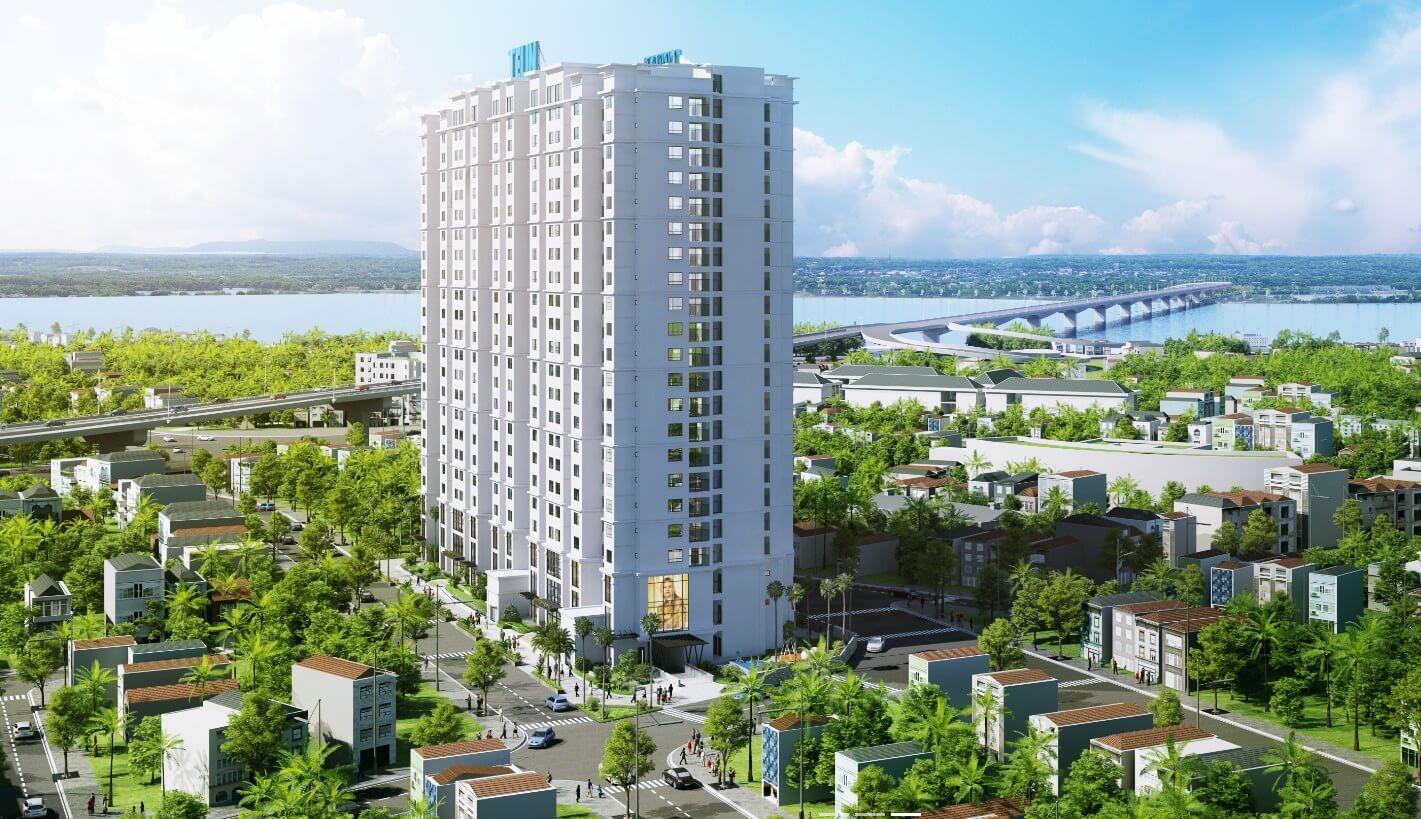 Phối cảnh chung cư Amber Riverside 622 Minh Khai