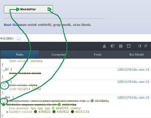 Menggunakan inspect element untuk memahami CSS