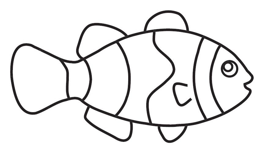 Taze Okul öncesi Sevimli Balık Boyama Yazdırılabilir Boyama Sayfaları