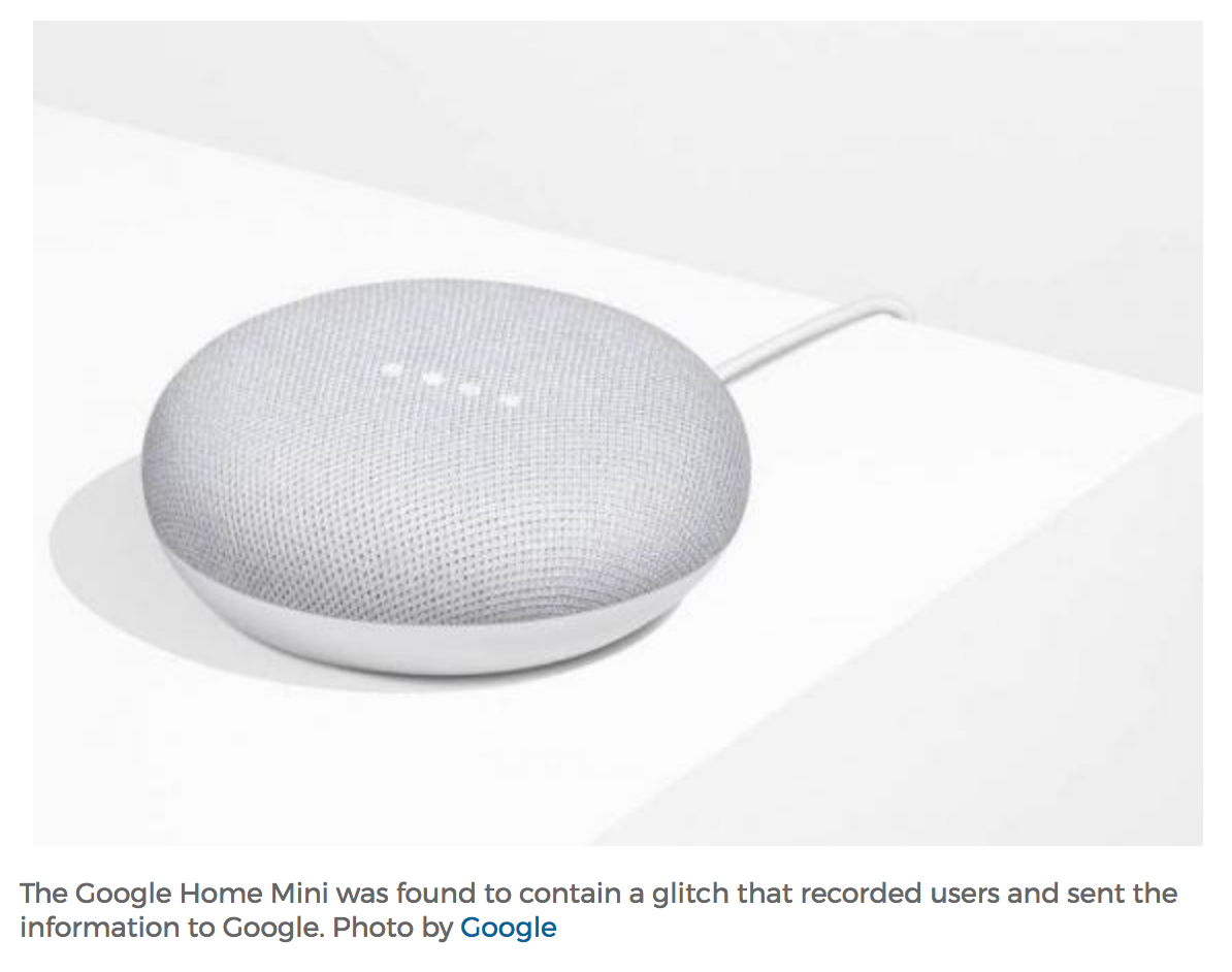 Kevins Security Scrapbook Google Home Mini Caught Spying On Owner
