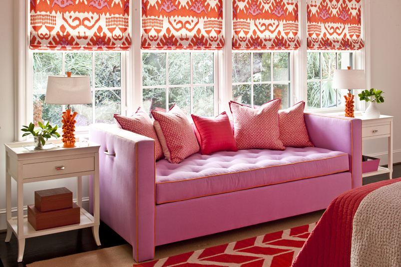 Pink and Orange for a Girl's Bedroom - Driven by Decor