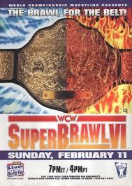 WCW SUPERBRAWl VI 1996 - Event Poster