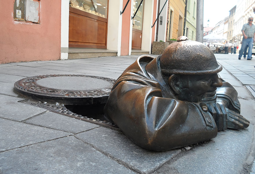 Man At work,Bratislava,Slovakia