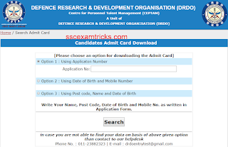 drdo ceptam 8 admit card 2016 released