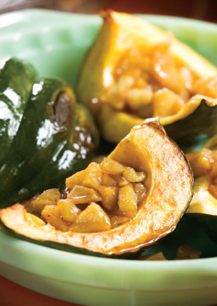 Spicy Apple-Filled Squash