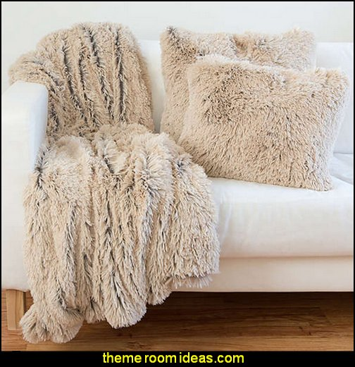 Shag/ Faux Fur Pillow or Throw Blanket