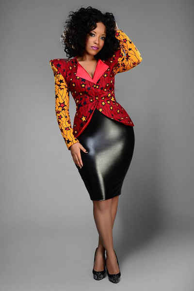 ankara jacket and skirt