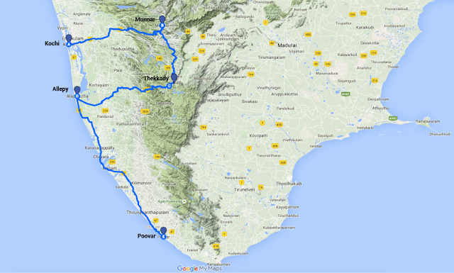 Kerala itinerary for couples