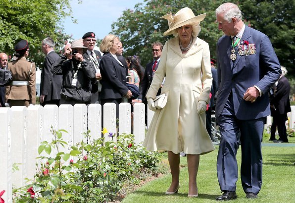 commemorations for the 75th anniversary of the D-Day landings in Bayeux. British Prime Minister Theresa May and Philip May