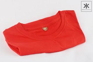 kaos polos pendek warna merah