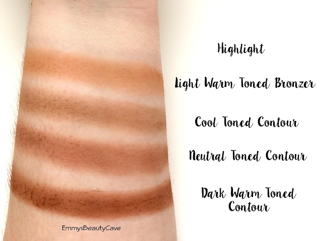 Crown Brush 10 Colour Contour Palette Swatches