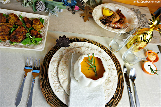 Entrantes y Primer Plato de nuestra Cena de Acción de Gracias