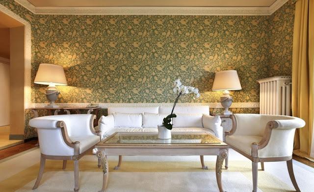 wallpaper ruang tamu mewah
