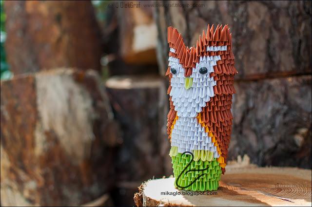 580. Sowa z origami / 3d origami owl