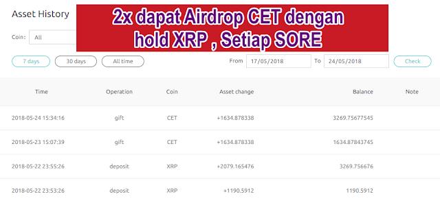 airdrop coinex token
