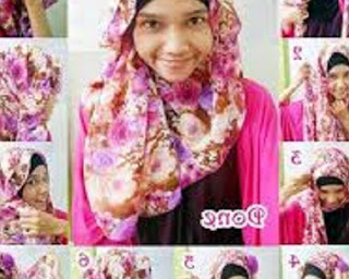 cara memakai jilbab segi empat untuk sekolah smk
