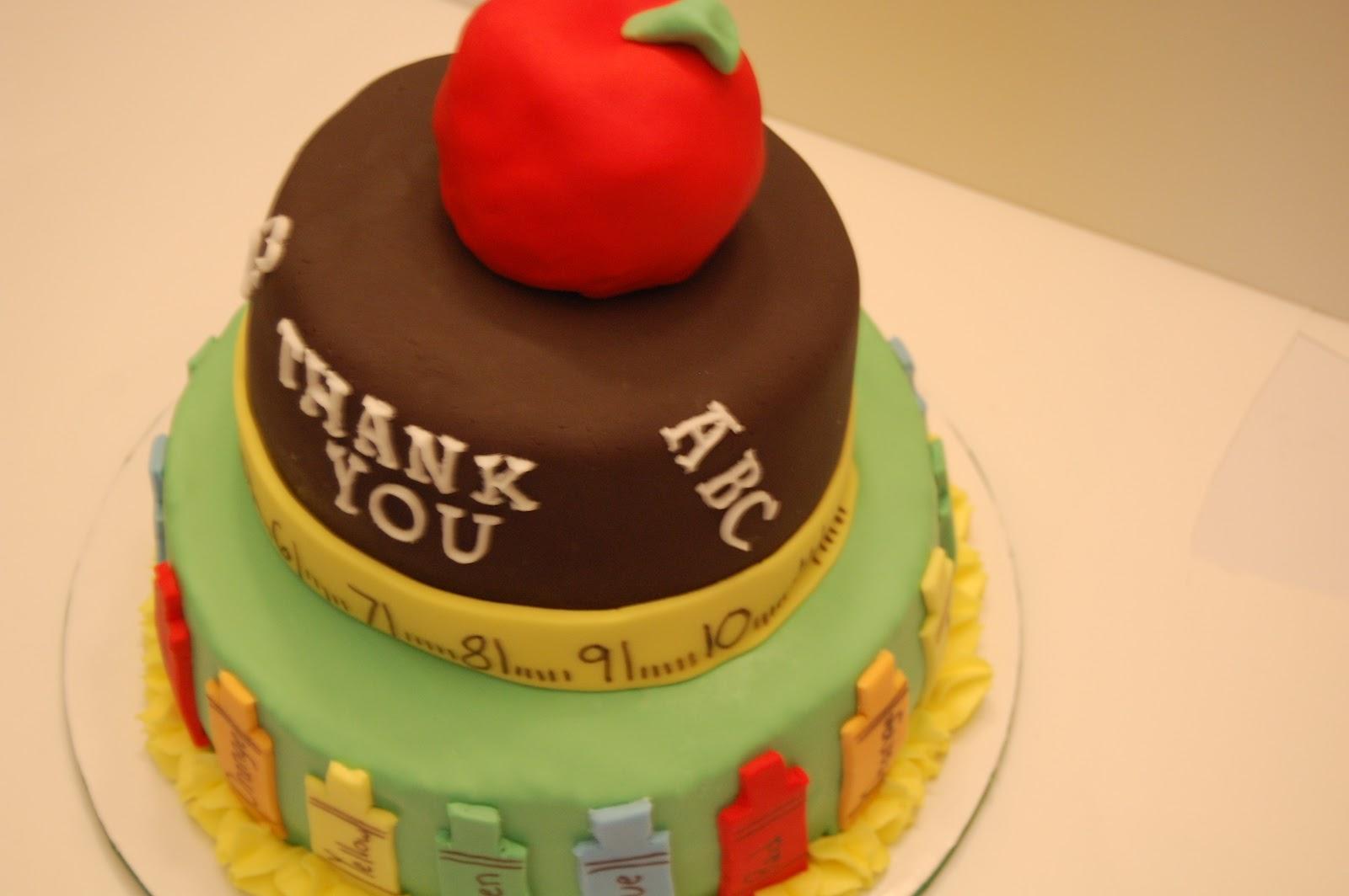 Amazing Rainbow Thank You Mini Cake For Teachers
