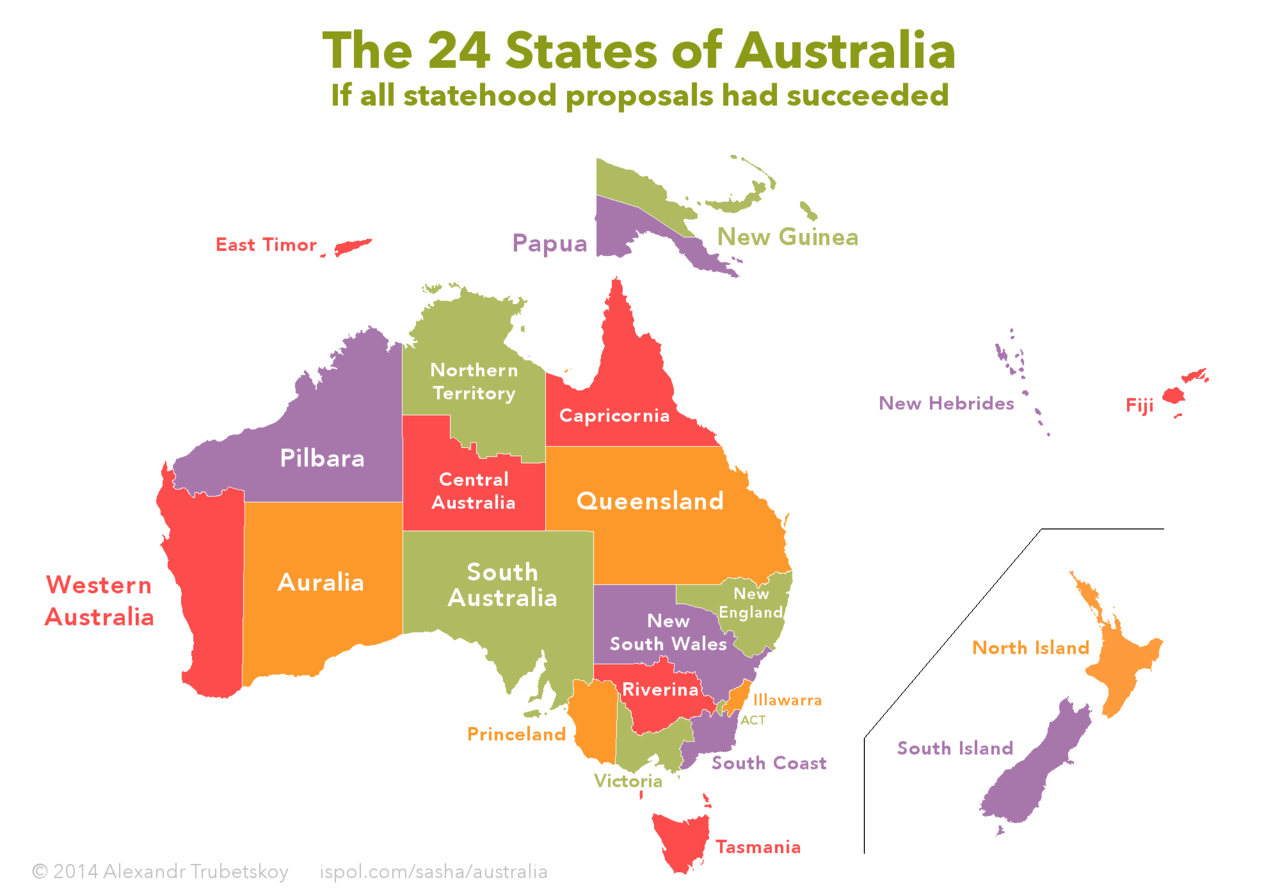 the 24 states of australia if all statehood proposals had been