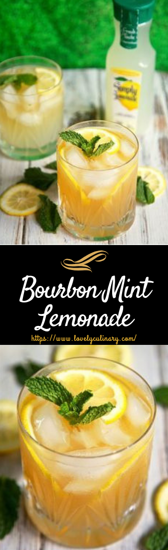 Bourbon Mint Lemonade #Cocktailrecipe #easy