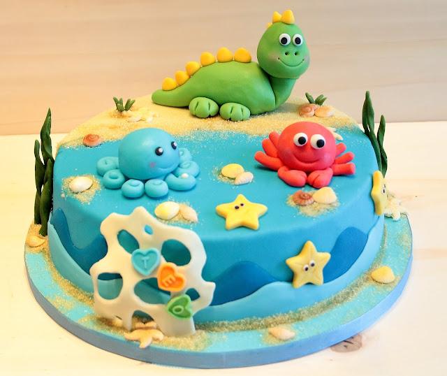 St Birthday Cake Dinasour