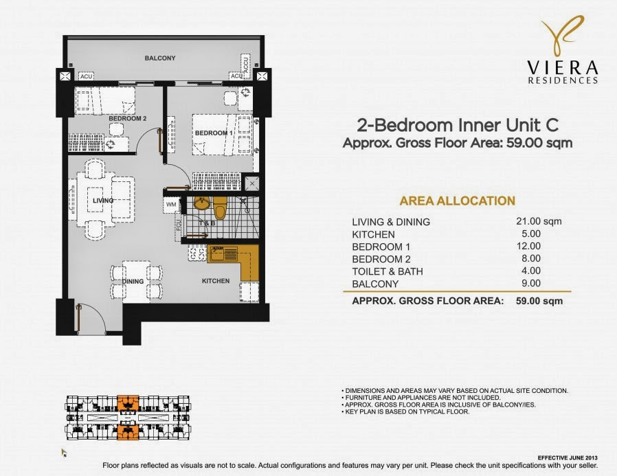 Viera Residences 2 Bedroom Inner Unit-C