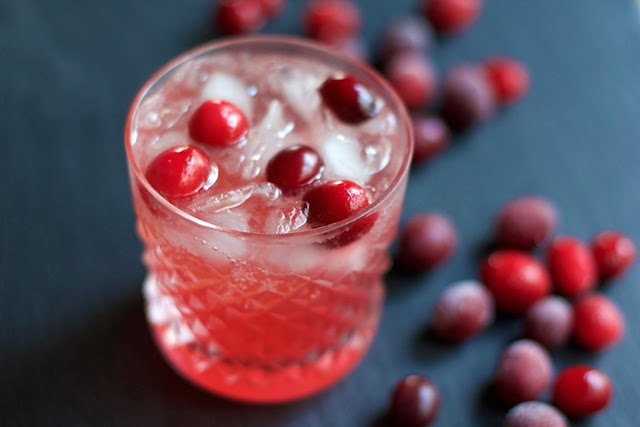 Cranberry Ginger Spritzer    A Less Processed Life