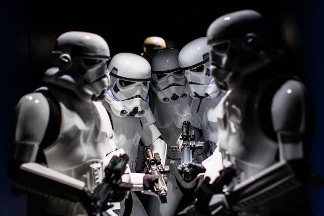 Group of stormtroopers with blasters
