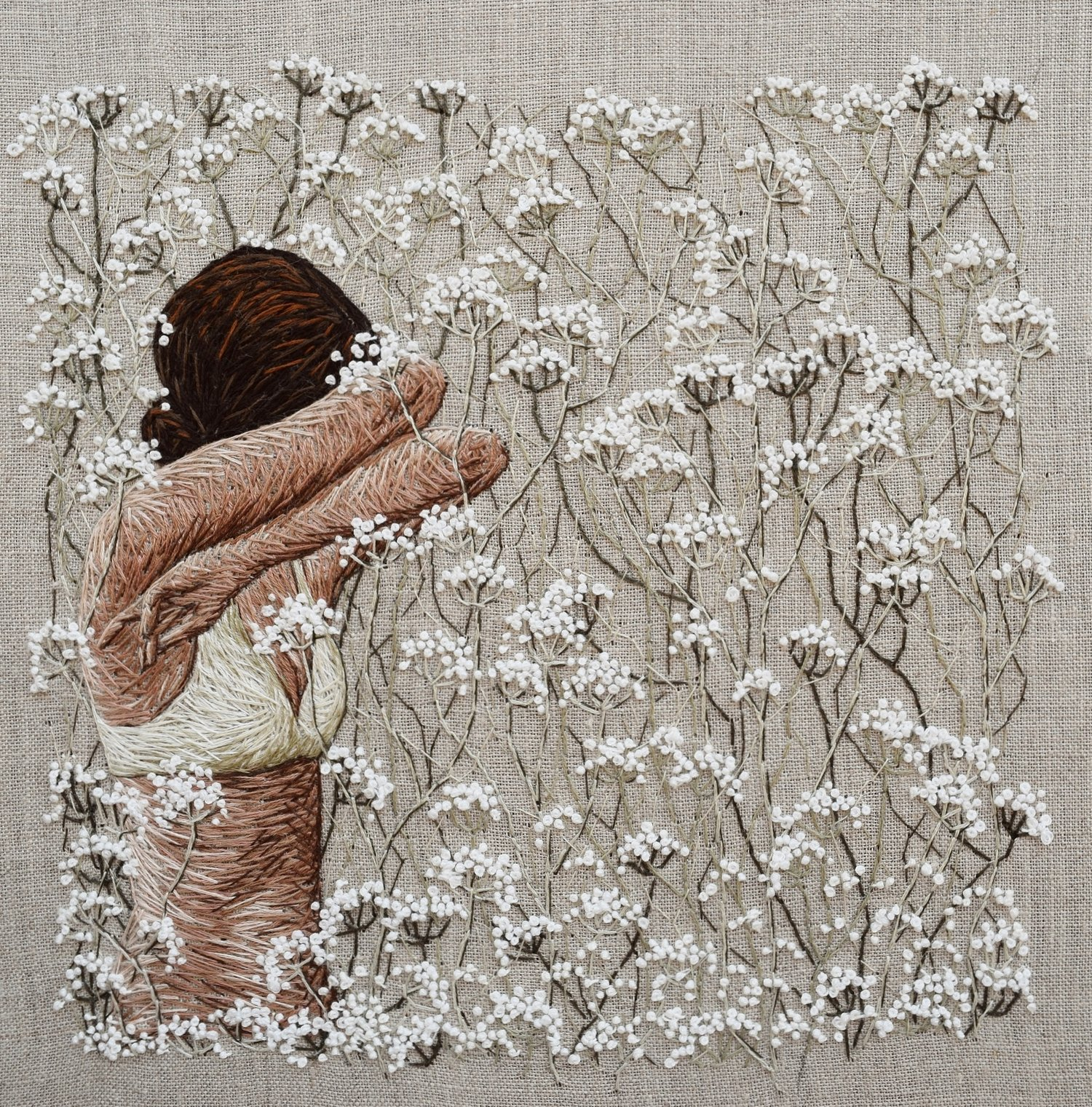 Original embroidery by Michelle Kingdom, featured by Sarah K. Benning in the series Craft With Conscience