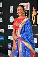 Priya Shree in Beautiful Blue Saree at IIFA Utsavam Awards 2017  Day 2    HD Exclusive Pics 32.JPG