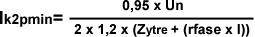 Formel for minste kortslutning