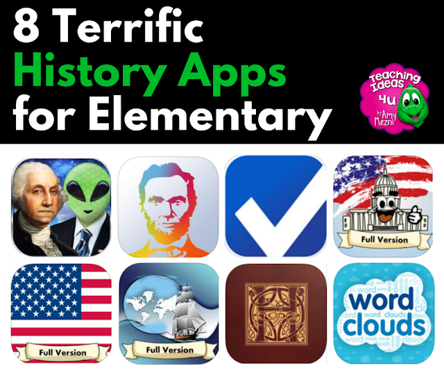 Are you looking for history apps to use in your upper elementary or middle school classroom? Check out these eight terrific history apps!