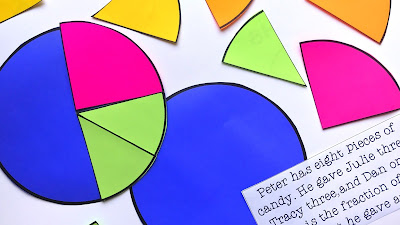 visualizing fractions with a pie chart