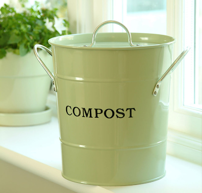 compost bucket, green