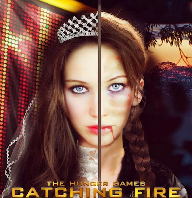 Poster Of The Hunger Games: Catching Fire 2013 In Hindi Bluray 720P Free Download