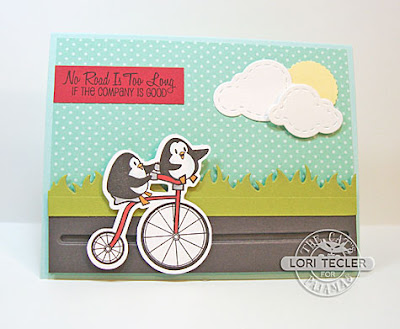 No Road Is Too Long card-designed by Lori Tecler/Inking Aloud-stamps and dies from The Cat's Pajamas