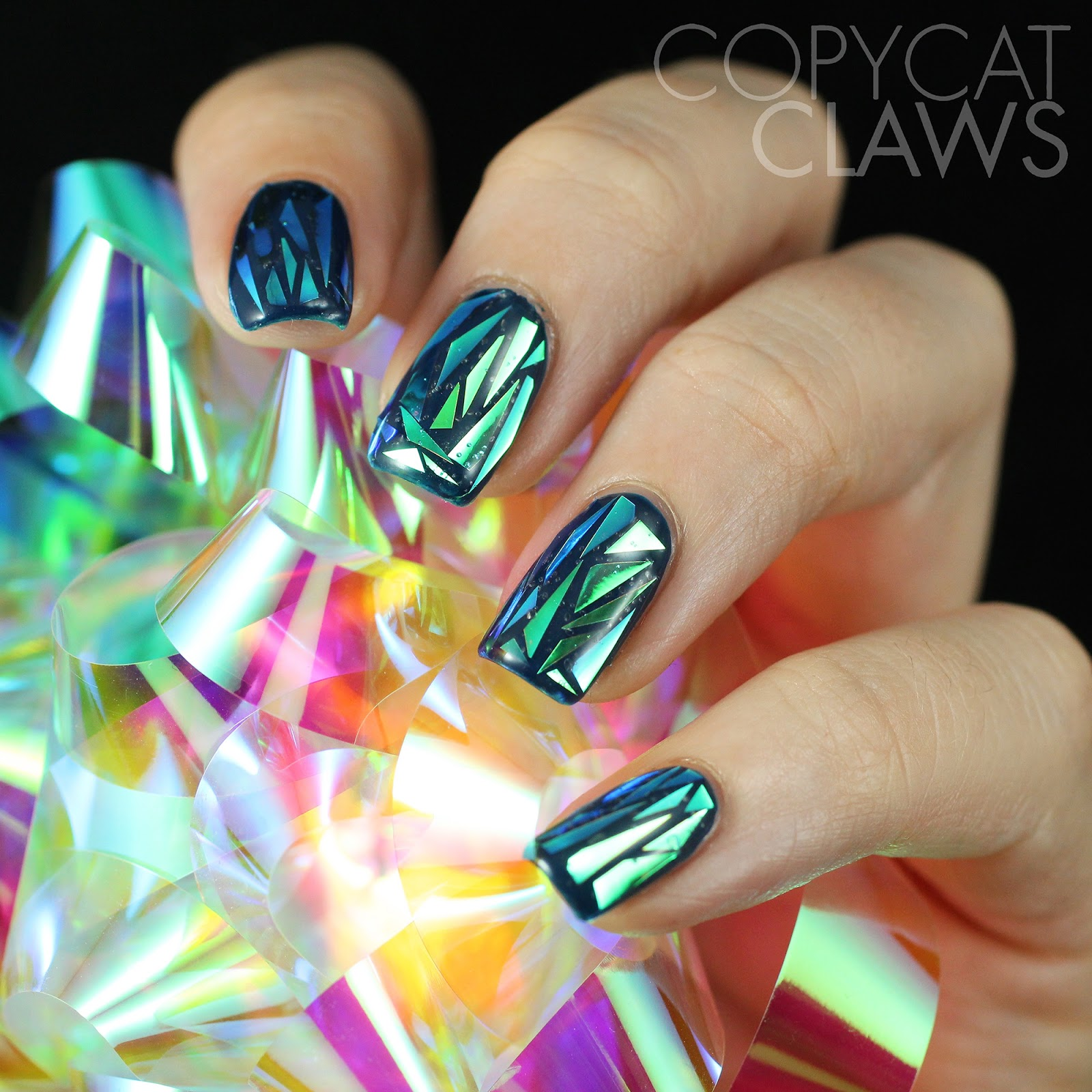 Copycat claws my attempt at shattered glass nails heres a photo of the bow that i used i only ended up using a few centimetres of it i think i could do this nail art a thousand more times and prinsesfo Choice Image