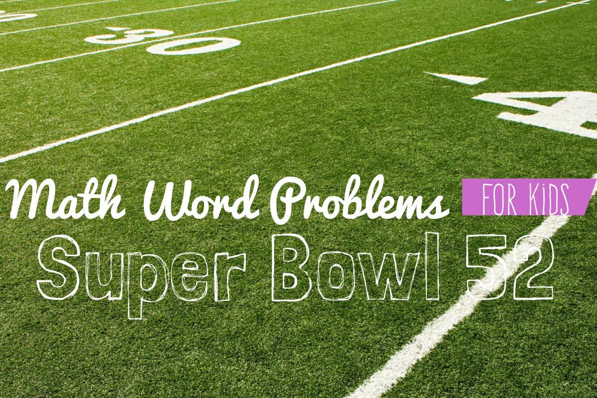 The Rotter Homestead: Super Bowl 52 Math Challenge {for kids}