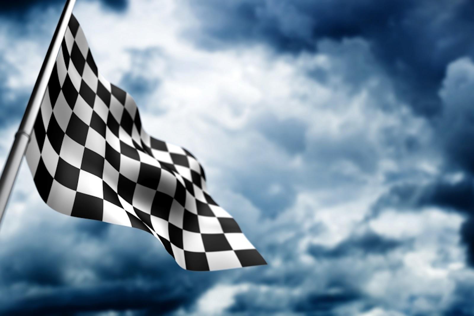 Flag Race Car