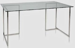 mesa caballetes crista y metal