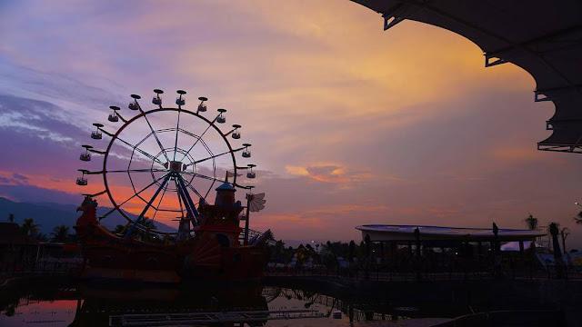sunset saloka park semarang
