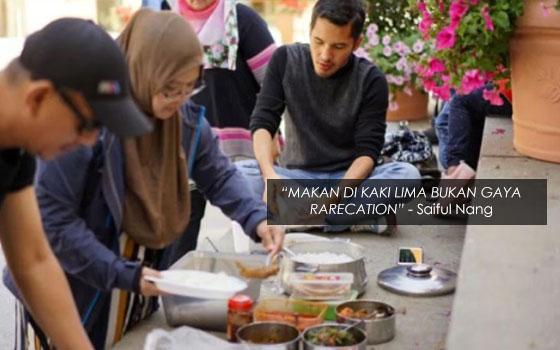 Penjelasan Syarikat Travel Isu Dato' Aliff Syukri Makan Di Kaki Lima