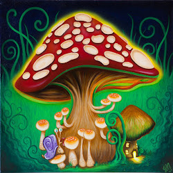 mushroom mushrooms magic painting drawings macmillan jennie psychedelic drawing paintings paint hippie american whimsical snail trippy artwork fineartamerica shrooms uploaded