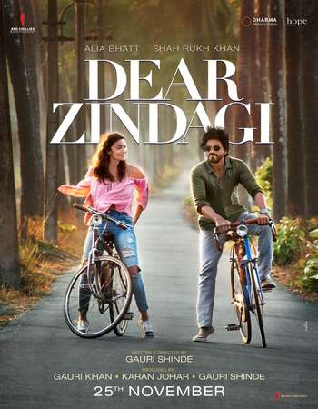 Poster Of Dear Zindagi 2016 Hindi 200MB  HEVC Mobile  Watch Online Free Download 300mb.cc
