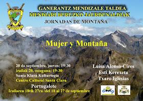 """Mesa redonda """"Mujer y montaña"""", 20 de septiembre 2012, Ganerantz (Portugalete)"""