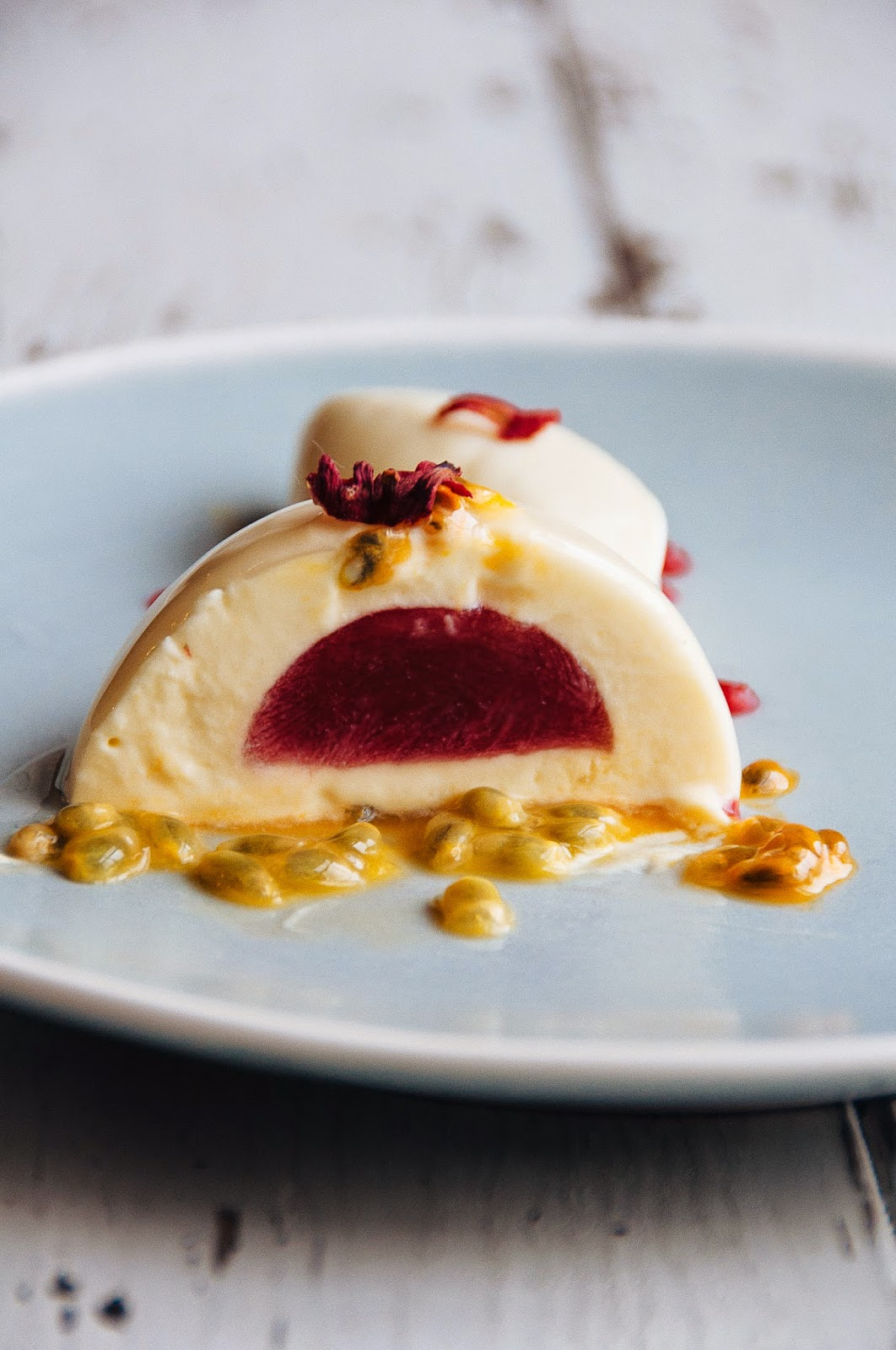 Passion Fruit White Chocolate And Hibiscus Plated