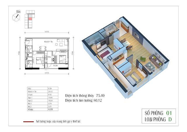 Thiết kế căn hộ số 01