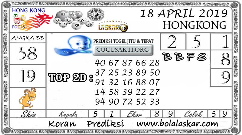 Prediksi Togel HONGKONG LASKAR4D 18 APRIL 2019