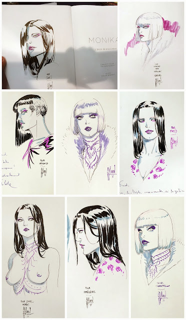 Drawings from signing sessions by Guillem March